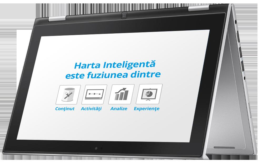 Harta Inteligentă este fuziunea dintre conținut, activități, experiențe.